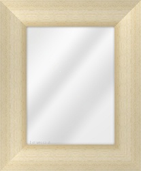 Framed Mirror made from a 90mm wide moulding, reverse shaped, and natural light pine in colour.