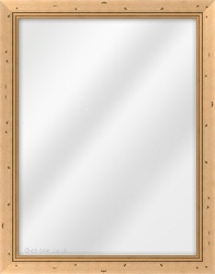 Framed Mirror made from a 32mm wide moulding, flat shaped, and medium oak in colour.
