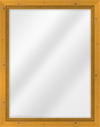 Framed Mirror made from a 33mm wide moulding, flat shaped, and rich honey in colour.