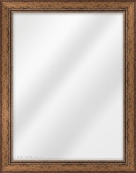 Framed Mirror made from a 35mm wide moulding, flat shaped, and medium oak in colour.