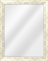 Framed Mirror made from a 30mm wide moulding, flat shaped, and silver/pale bronze in colour.