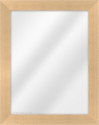 Framed Mirror made from a 40mm wide moulding, flat shaped, and natural beech in colour.