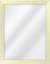 Framed Mirror made from a 29mm wide moulding, flat shaped, and ivory in colour.