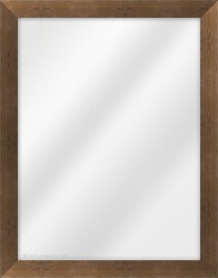 Framed Mirror made from a 29mm wide moulding, flat shaped, and dark walnut in colour.