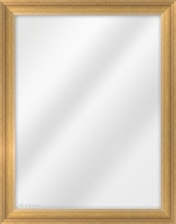 Framed Mirror made from a 31mm wide moulding, reverse shaped, and honey in colour.