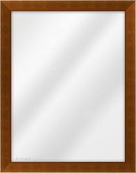 Framed Mirror made from a 30mm wide moulding, flat shaped, and teak in colour.