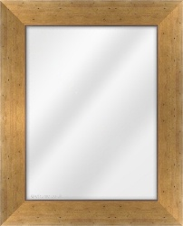 Framed Mirror made from a 62mm wide moulding, reverse shaped, and medium pine in colour.