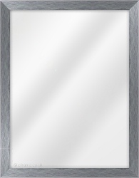 Framed Mirror made from a 25mm wide moulding, flat shaped, and blue in colour.