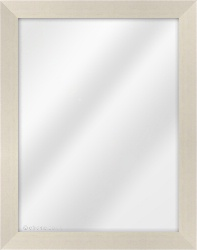 Framed Mirror made from a 34mm wide moulding, flat shaped, and ivory in colour.