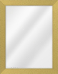 Framed Mirror made from a 35mm wide moulding, flat shaped, and light pine in colour.
