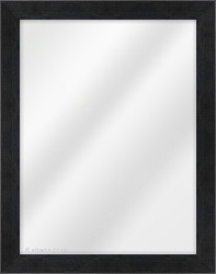 Framed Mirror made from a 33mm wide moulding, flat shaped, and dark grey in colour.
