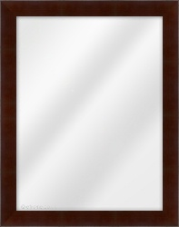 Framed Mirror made from a 34mm wide moulding, flat shaped, and mahogany in colour.