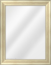 Framed Mirror made from a 40mm wide moulding, flat shaped, and champagne silver/maroon in colour.