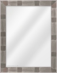 Framed Mirror made from a 40mm wide moulding, flat shaped, and silver in colour.