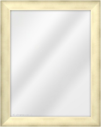 Framed Mirror made from a 38mm wide moulding, bevel shaped, and champagne gold in colour.
