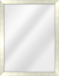Framed Mirror made from a 23mm wide moulding, flat shaped, and champagne pale gold/black edge in colour.