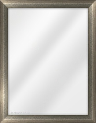 Framed Mirror made from a 30mm wide moulding, dome shaped, and silver/pewter in colour.