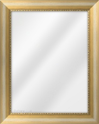 Framed Mirror made from a 44mm wide moulding, scoop shaped, and antique gold in colour.
