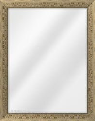 Framed Mirror made from a 30mm wide moulding, cushion shaped, and antique silver in colour.