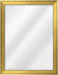 Framed Mirror made from a 30mm wide moulding, scoop shaped, and gold in colour.