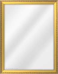 Framed Mirror made from a 26mm wide moulding, spoon shaped, and gold in colour.