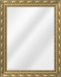 Framed Mirror made from a 42mm wide moulding, spoon shaped, and dark gold in colour.