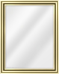Framed Mirror made from a 34mm wide moulding, dome shaped, and gold in colour.