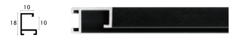 10mm Wide, Florentine Black Aluminium Matt Frame, A3Plus (MLDAA031)