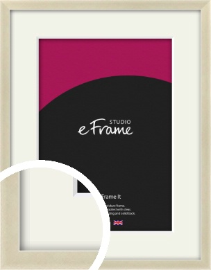 Flat Champagne Silver Picture Frame & Mount (VRMP-A029-M)