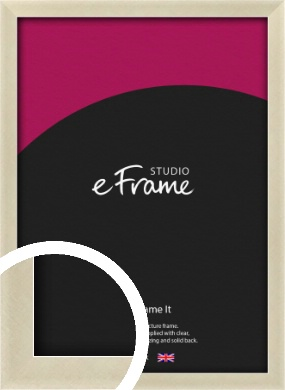 Flat Champagne Silver Picture Frame (VRMP-A029)