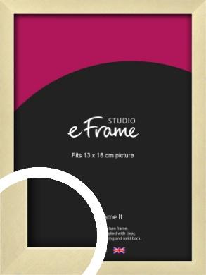 Crisp Gold Picture Frame, 13x18cm (5x7