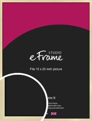 Crisp Gold Picture Frame, 15x20