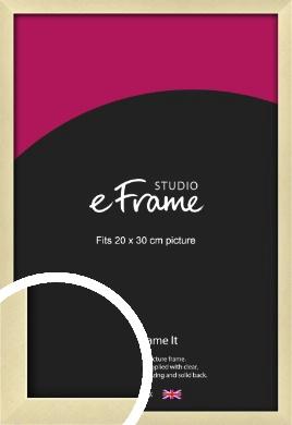 Crisp Gold Picture Frame, 20x30cm (8x12