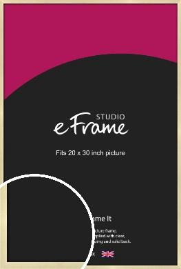 Crisp Gold Picture Frame, 20x30