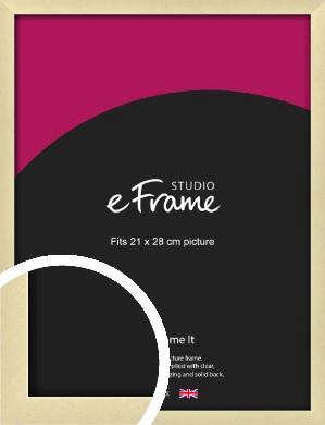 Crisp Gold Picture Frame, 21x28cm (VRMP-A030-21x28cm)