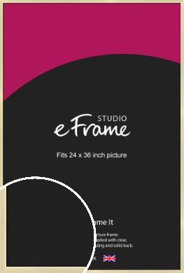 Crisp Gold Picture Frame, 24x36