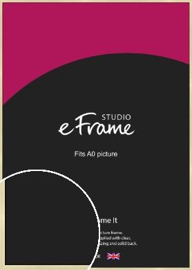Crisp Gold Picture Frame, A0 (841x1189mm) (VRMP-A030-A0)