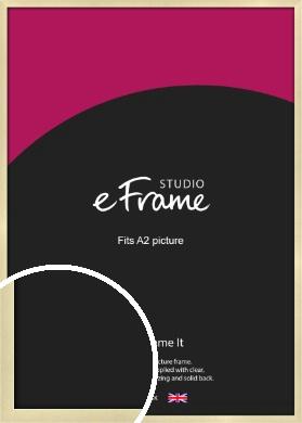 Crisp Gold Picture Frame, A2 (420x594mm) (VRMP-A030-A2)