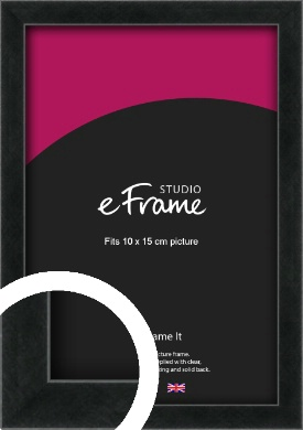 Sharp Line Black Picture Frame, 10x15cm (4x6