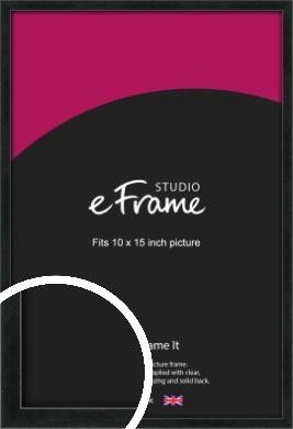 Sharp Line Black Picture Frame, 10x15