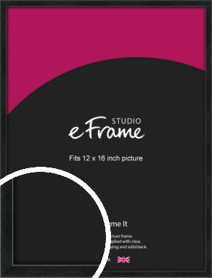 Sharp Line Black Picture Frame, 12x16