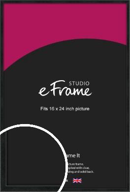 Sharp Line Black Picture Frame, 16x24