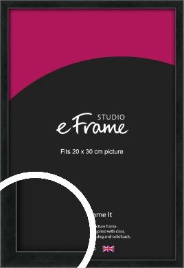 Sharp Line Black Picture Frame, 20x30cm (8x12