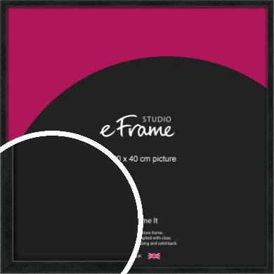 Sharp Line Black Picture Frame, 40x40cm (VRMP-A031-40x40cm)