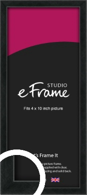Sharp Line Black Picture Frame, 4x10