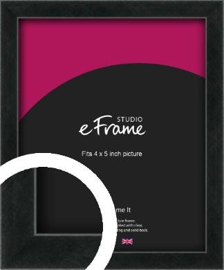 Sharp Line Black Picture Frame, 4x5