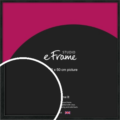 Sharp Line Black Picture Frame, 50x50cm (VRMP-A031-50x50cm)