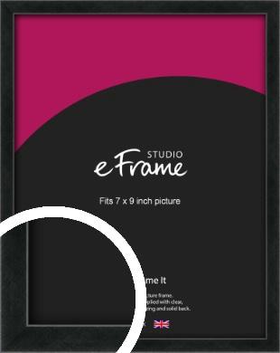 Sharp Line Black Picture Frame, 7x9