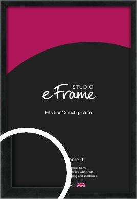 Sharp Line Black Picture Frame, 8x12
