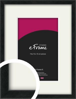 Sharp Line Black Picture Frame & Mount, 10x15cm (4x6
